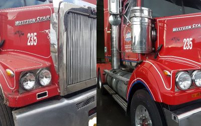 Western Star Respray – Truck Accident Repair