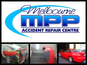 Red Holden rear bumper repair and respray